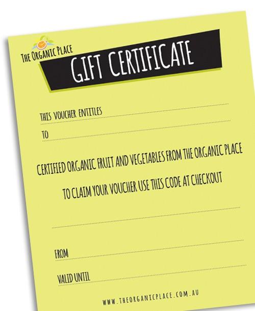 gift voucher organic place