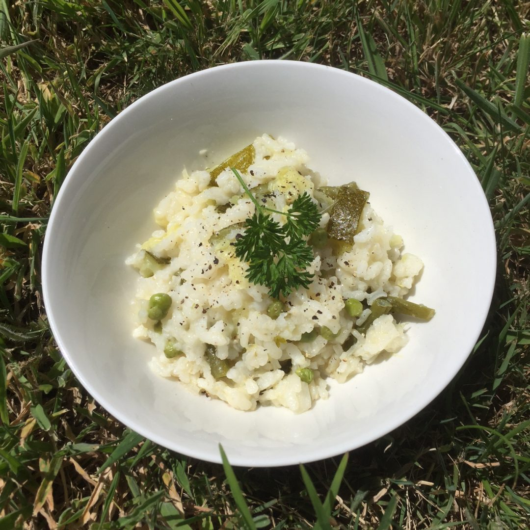 Zucchini and Green Bean Risotto