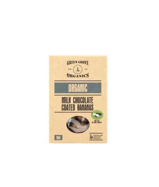 Organic Milk Chocolate Coated Bananas